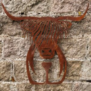metal wall sculpture highland cow wall art