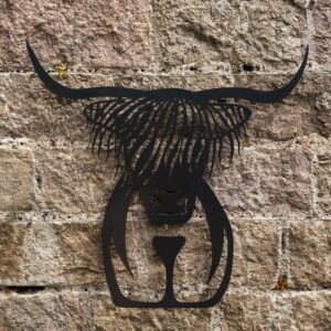 garden wall art uk highland cow sculpture