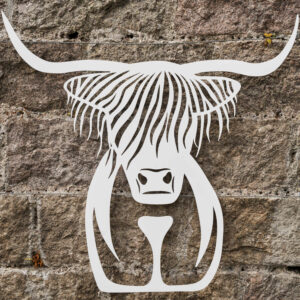 garden wall decor highland cow art