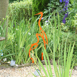 lawn and garden decor heron garden ornament