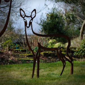 fawn lawn garden decor British garden art