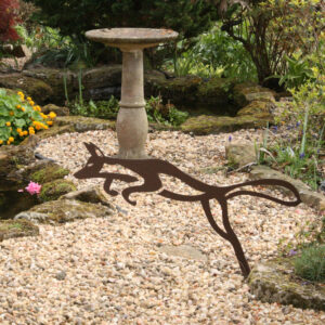 contemporary modern sculpture fox garden features ornament