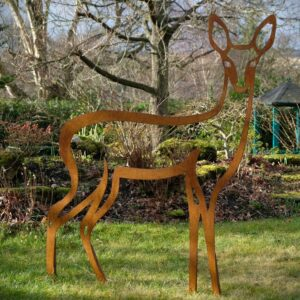 garden art sculpture deer sculpture